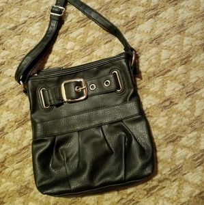 ~ Black Buckle Pocket Crossbody Bag ~